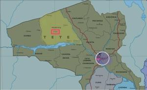 Distrito de Maravia (en amarillo)