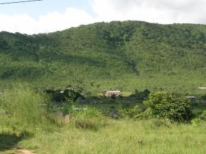 la capilla catolica y nuestra casa (vista desde el centro de salud)