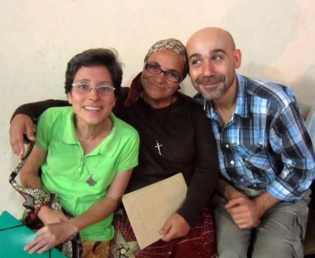 De izquierda a derecha: Sonia, Carmen y Jose.